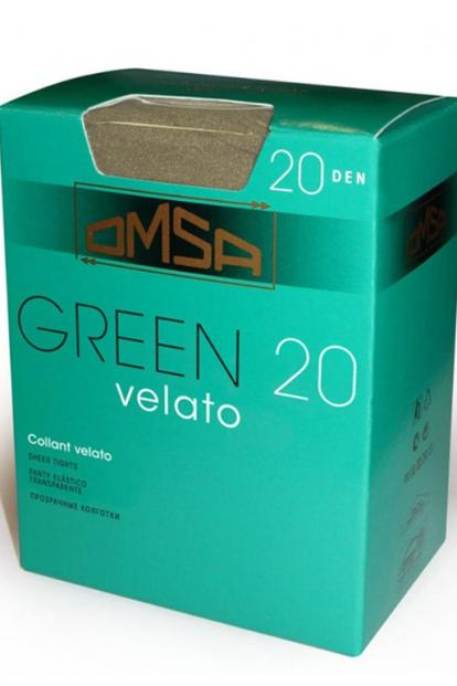 Классические матовые колготки Omsa GREEN 20 - фото 1