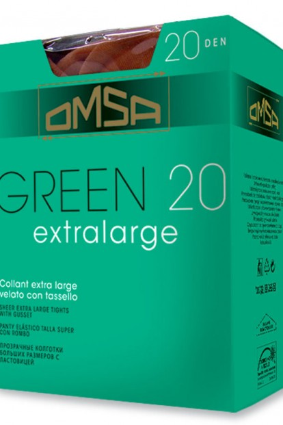 Матовые колготки больших размеров Omsa GREEN 20 Extralarge - фото 1