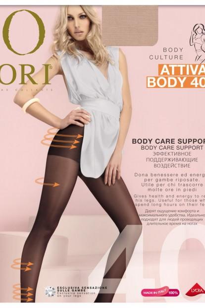 Матовые поддерживающие колготки ORI ATTIVA BODY 40 - фото 1