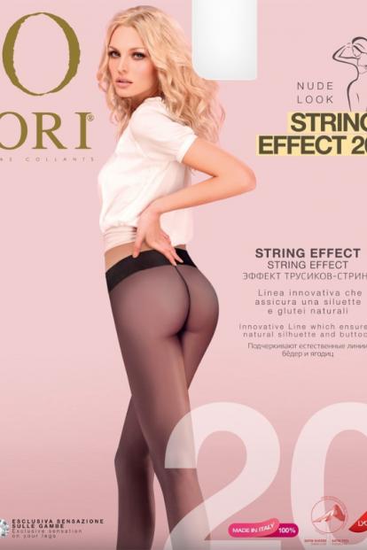 Матовые колготки с трусиками ORI STRING EFFECT 20 - фото 1