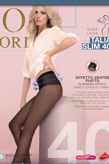 Матовые утягивающие колготки с поясом ORI TALIA SLIM 40 - фото 1