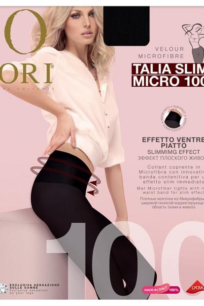 Матовые утягивающие колготки с поясом ORI TALIA SLIM MICRO 100 - фото 1