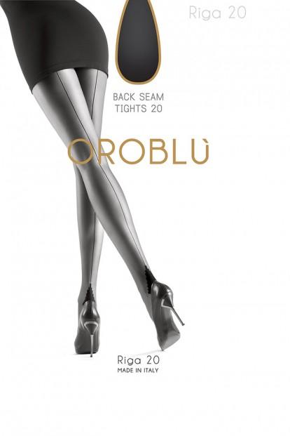 Тонкие женские колготки со швом Oroblu RIGA 20 - фото 1