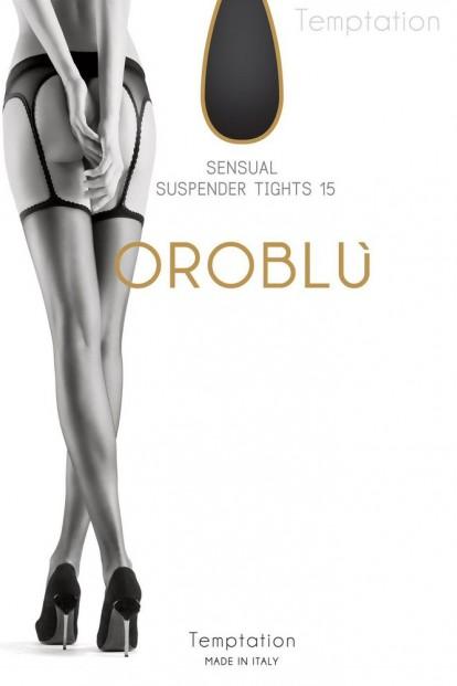 Летние колготки с имитацией пояса и чулок Oroblu TEMPTATION 15 - фото 1