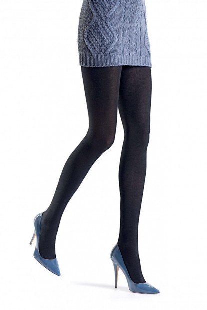 Теплые хлопковые колготки с шелком и шерстью Oroblu TESSIE FINE COTTON WOOL - фото 1
