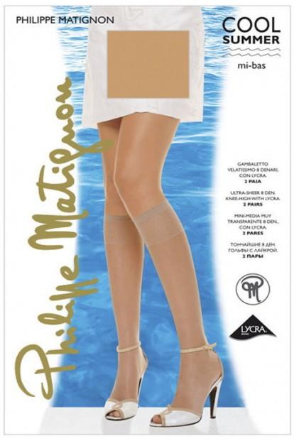 Гольфы PHILIPPE MATIGNON COOL SUMMER 8 mi-bas (2 п.) - фото 1