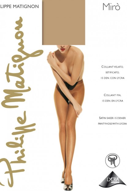 Классические летние колготки Philippe Matignon MIRO 15