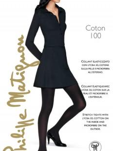Теплые хлопковые колготки Philippe Matignon COTON 100