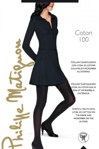 Теплые хлопковые колготки Philippe Matignon COTON 100 - фото 1