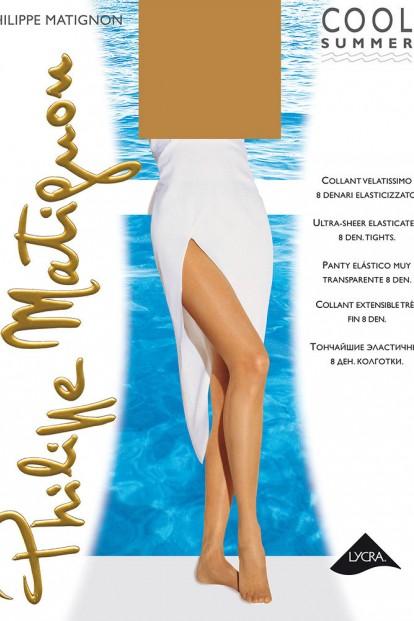 Классические летние колготки 8 ден Philippe Matignon COOL SUMMER - фото 1