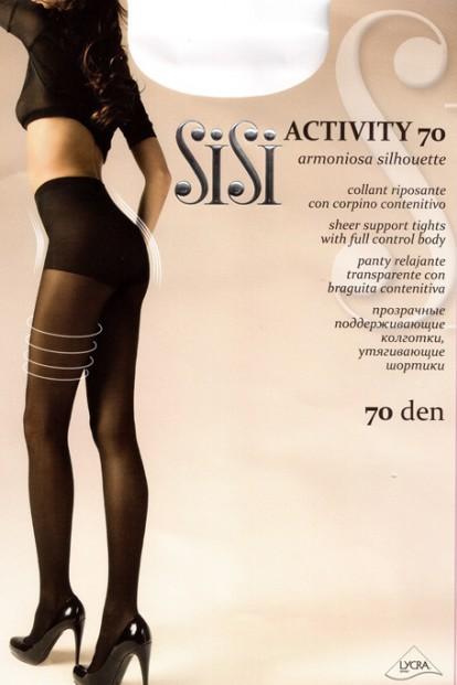 Теплые утягивающие колготки Sisi Activity 70