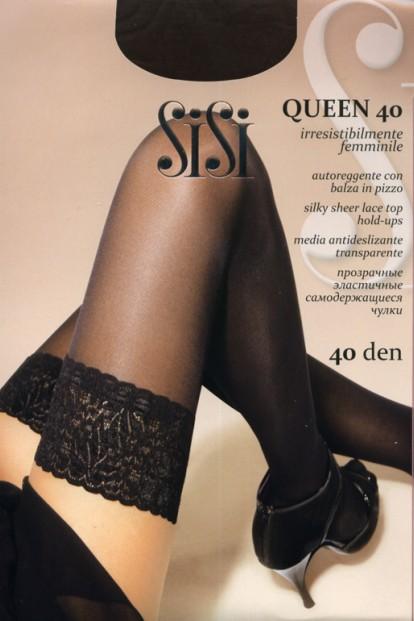 Классические кружевные чулки Sisi Queen 40 - фото 1