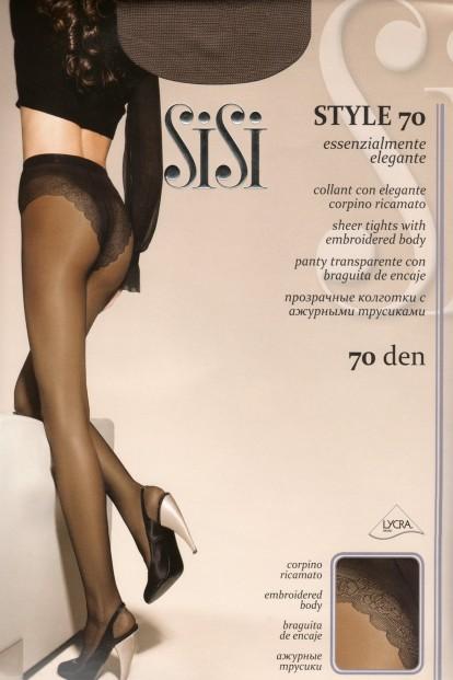 Классические колготки с кружевными трусиками Sisi STYLE 70 - фото 1
