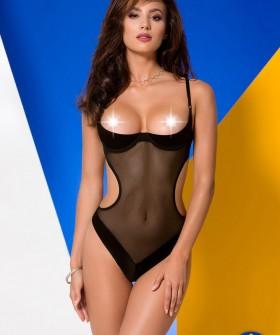 Боди с открытой грудью Avanua Rebecca Body Black