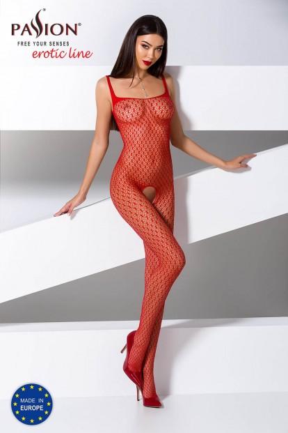 Красный бодистокинг с доступом Passion Erotic Line BS 071