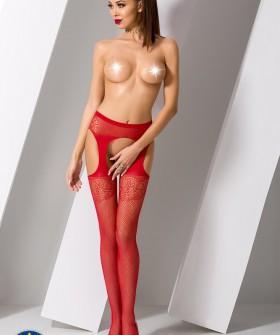 Чулки с поясом Passion S 005 Red Erotic Line