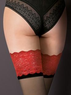 Тонкие чулки Gabriella 474 Victoria Nero/Nero/Red