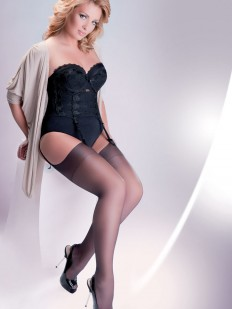 Чулки под пояс Gabriella 166 Cher Plus Size Nero