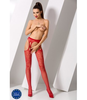 Чулки с поясом Passion S 002 Red Erotic Line