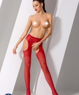 Чулки с поясом Passion Erotic Line S 017 Red