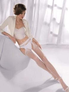 Чулки с поясом Gabriella 235 Strip Panty Classic Bianco
