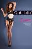 Черные чулки с поясом и ажурной окантовкой Gabriella Strip Panty Classic 235 - фото 3