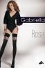 Фантазийные чулки с гладкой резинкой и узором в виде розы Gabriella Rosa 60 - фото 3