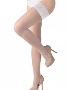 Тонкие чулки Gabriella 164 Calze Plus Size Bianco
