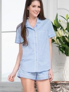 Пижама из рубашки с шортами Mia-amore Tracy 6806