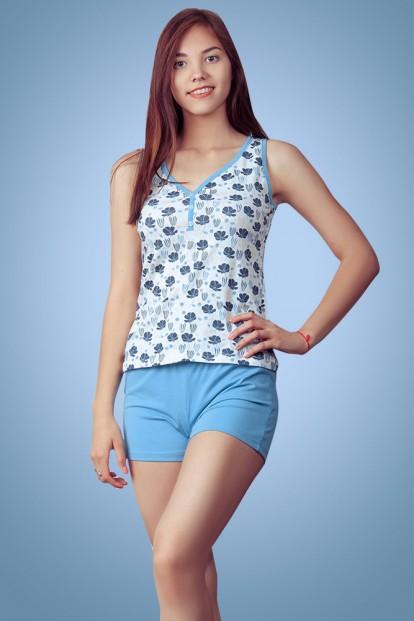 Женская хлопковая летняя пижама с шортами Blackberry Evelena 1020 - фото 1