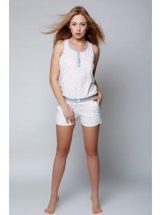 Женская летняя хлопковая пижама комбинезон с шортами