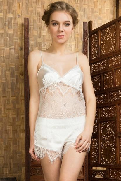 Женская летняя кружевная пижама с атласными шортами Mia-Mia 17432 MAGDALENA - фото 1