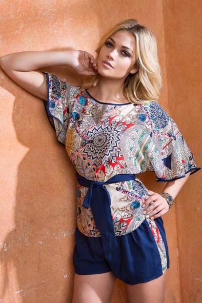 Женский летний комплект из вискозы с шортами Mia-Mia Maya 16132 - фото 1