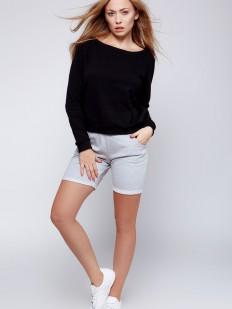 Домашний женский хлопковый комплект с удлиненными шортами