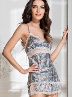 Женская атласная летняя пижама с шортами и кружевом