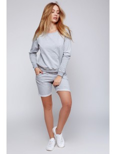 Женский хлопковый домашний комплект с удлиненными шортами