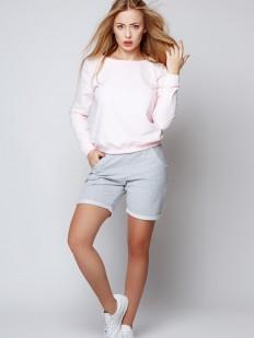 Пижамный хлопковый женский комплект из свитшота и шорт Sensis BLING