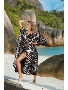 Пляжная туника с анималистичным принтом зебра
