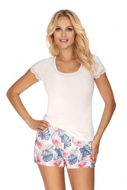 Женская летняя пижама с принтованными шортами Donna MILA - фото 1