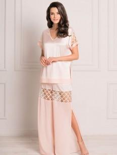 Красивый атласный женский домашний комплект с широкими брюками и топом