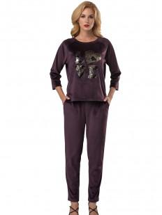 Домашний костюм Lelio 930 фиолетовый