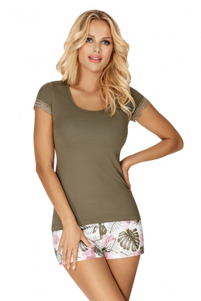 Женская летняя пижама с тропическими шортами Donna MILA - фото 1