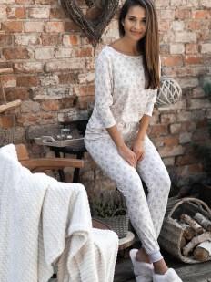 Хлопковая брючная женская пижама с рождественским принтом