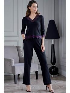 Женская пижама с брюками из вискозы с кружевом Mia-Amore ROBERTA