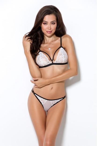 Кружевной белый комплект женского нижнего белья Passion erotic line ORIHIME set
