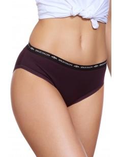 Женские фиолетовые трусы из хлопка в спортивном стиле