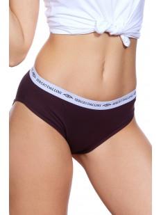 Женские фиолетовые спортивные трусы из хлопка с широкой резинкой