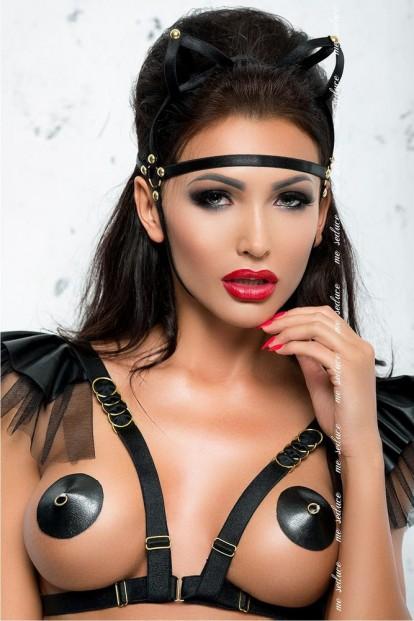 Черная эротическая маска Me Seduce Mk06 - фото 1