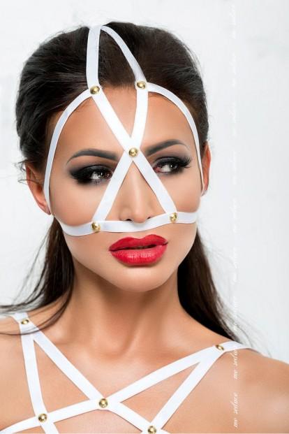 Белая эротическая маска Me Seduce Mk10 - фото 1