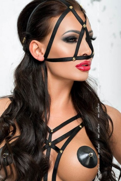 Черная маска БДСМ Me Seduce Mk09 - фото 1